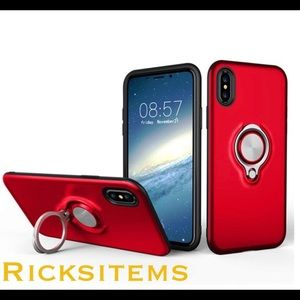 IPhone X/XS Case with Metal plate & Ring Kickstand